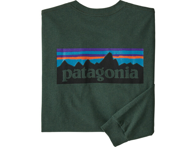Patagonia P-6 Logo LS Responsibili-Tee Herren alder green